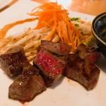 鉄板焼 天 - 愛知牛サーロインステーキ