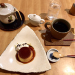 99764854 - かぼちゃのプリン&コーヒー