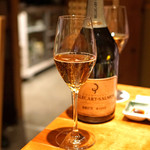 のどぐろ専門 銀座中俣 - Champagne Billecart-Salmon Brut Rose