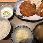 やよい軒 - チキン南蛮とエビフライ定食♪ 960円
