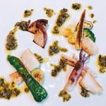 ピヴォーテ - 地野菜とホタテの焼き物