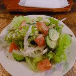 ケーブルカー - ケーブルカー特製カレーに付属のサラダ