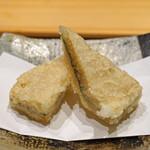 鮨 由う - 子持ち昆布のおひたしの天ぷら