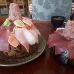 竹寿司 - 左が1,500円で1.2キログラム、右が1,350円で800グラムとお得感満載です。