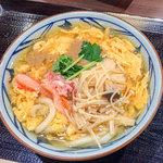 丸亀製麺 - 「満福かに玉あんかけ」(並・690円)。