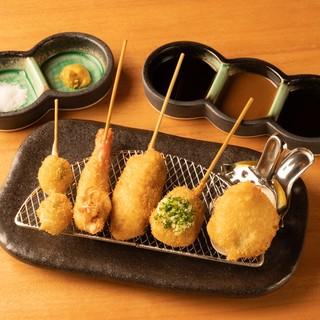 六波羅おまかせコース(串5本から/季節の前菜付)¥3000~