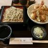 たか - 料理写真:お昼の「天丼セット(そば付き)」(980円)