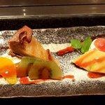鉄板焼ステーキ Ishida. - デザート盛り合わせ