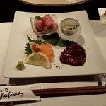 鉄板焼ステーキ Ishida. - 前菜盛り合わせ