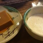 奥丹 - 料理写真:胡麻豆腐&とろろ汁♪