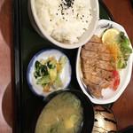 鮨と麺 うまい門 - ポークステーキラン700円