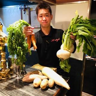 農家直送で新鮮な野菜が届きます。