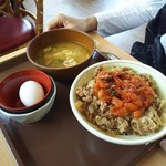 すき家 - キムチ牛丼 カレートン汁玉子セット