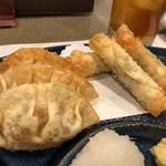 99785360 - かかし揚げ(左)、ささみチーズ揚げ(右)