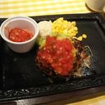 カタマリ肉ステーキ&サラダバー にくスタ - アボトマハンバーグ