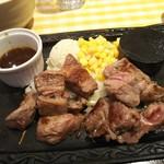 カタマリ肉ステーキ&サラダバー にくスタ - カットステーキ盛り合わせ