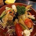 加賀屋 - サラダ食べ掛け