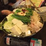 九州屋台 九太郎 - もつ鍋醤油加熱前