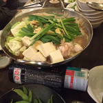 九州屋台 九太郎 - もつ鍋醤油加熱中