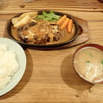 とおち - ハンバーグ+定食