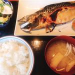 Ebisu 言の葉 - 鯖の塩焼き定食