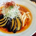 福桝屋 - 料理写真:揚げ茄子肉辛うどん
