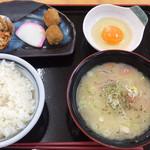 道なか食堂 げんき - げんき豚汁定食 ¥650- (2019/01/09)