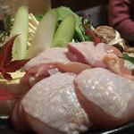 99798429 - 鶏のすき焼き鍋の鶏肉
