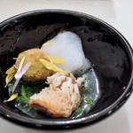 99804259 - 甘鯛の鱗焼き 里芋と菊菜のフリカッセ