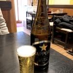 うなぎ赤垣 - 瓶ビール(540円)