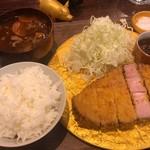 99808784 - 金のとんかつ定食 ロース200g 1,000円