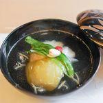 山玄茶 - 料理写真:アイナメ、 丸茄子、 じゅん菜、 姫青梗菜