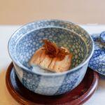山玄茶 - 煮穴子の飯蒸し、 新生姜、 奈良漬け