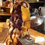 KANARIYA 本店 - チョコレートパフェ