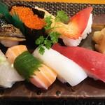 玄海鮨 - 竹にぎり  リバースアングル
