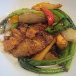 Chuugokuryouritambo - イカと野菜の黒豆みそ炒め