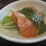 Chuugokuryouritambo - サーモンのバジルソース