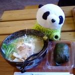 道の駅 熊野・板屋 九郎兵衛の里 - 熊野地鶏ラーメン+めはり寿司