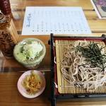 竹庵 - 料理写真:ざるそば750円 蕎麦にこだわるなら最低の出し方の部類ですが、観光地なのでこんなもんでしょうw