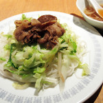 Az/ビーフン東 - Aセットの小ビーフン(焼)とスープ('18.10月中旬)
