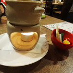 MERINO - わりとナイスなお通し、チーズフォンデュ。
