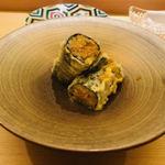 鮨よしかわ - ウニの巻物