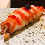 鮨よしかわ - 車海老鮨+キャビア