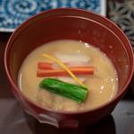 鳥田中 - 2019.1 白湯鶏スープ 白味噌仕立て