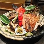 魚貝三昧 げん屋 - ぶりカマ塩焼き