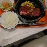 ペッパーランチ - サラダ&セット200円。 サラダ&ジュースです。