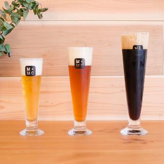 国産クラフトビールや自然派ワインとお食事を
