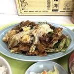 北海ラーメン - 回鍋肉片定食 ¥950 いつもの蒜苗定食より200円高いので初めて。やはり美味しいけどこの値段差なら次回も蒜苗定食かな。