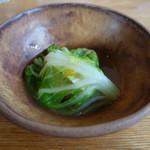 99854340 - 寒鰆 あさりと緑茶のスープ仕立て