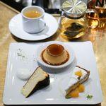 99858977 - 南知多濃厚卵のプリン、 バスクチーズケーキ、 オレンジとリコッタチーズのタルト